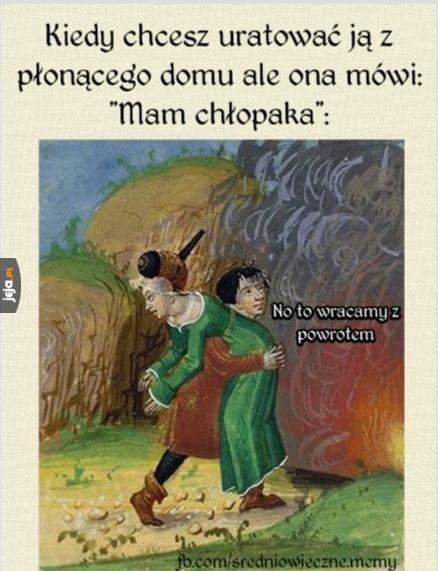 Pożar w średniowieczu