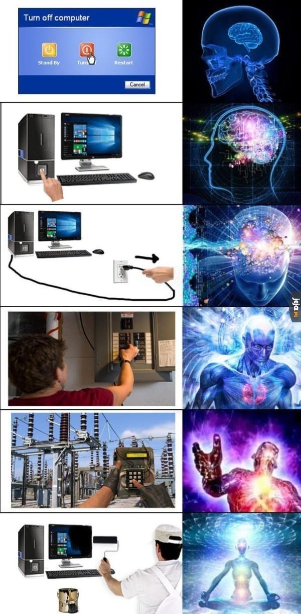 Jak wyłączyć komputer