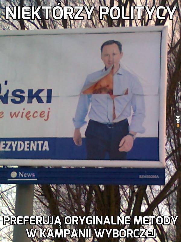 Oryginalna kampania wyborcza