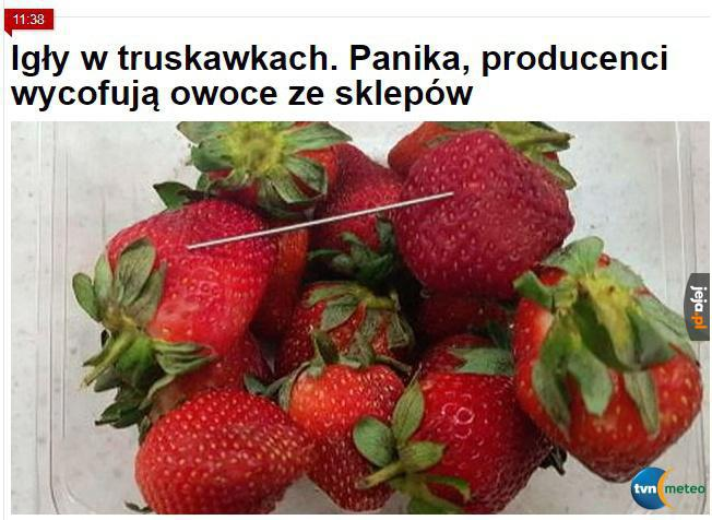 Ostry smak truskawek