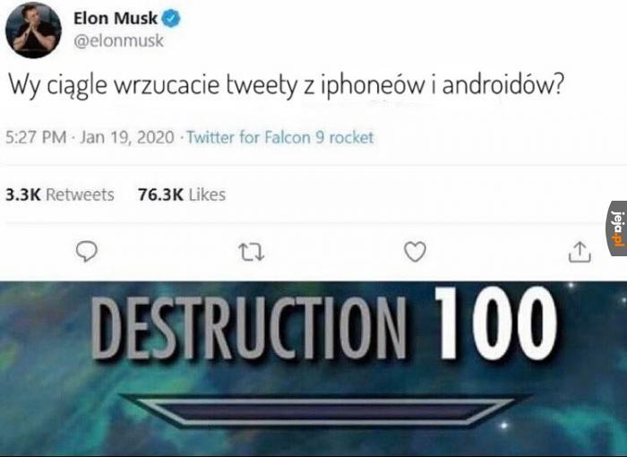 Elon jest poziom wyżej