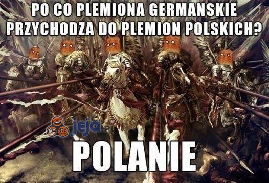 Po co plemiona germańskie przychodzą do polskich?