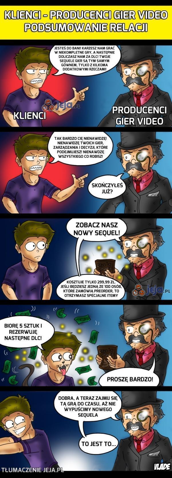 Gracze vs. producenci gier