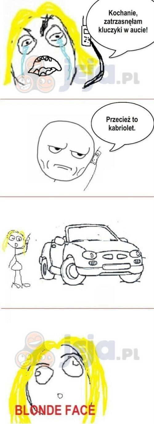 Blondynka i kabriolet