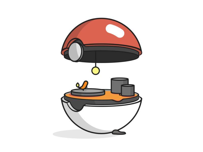Ognisty Pokeball