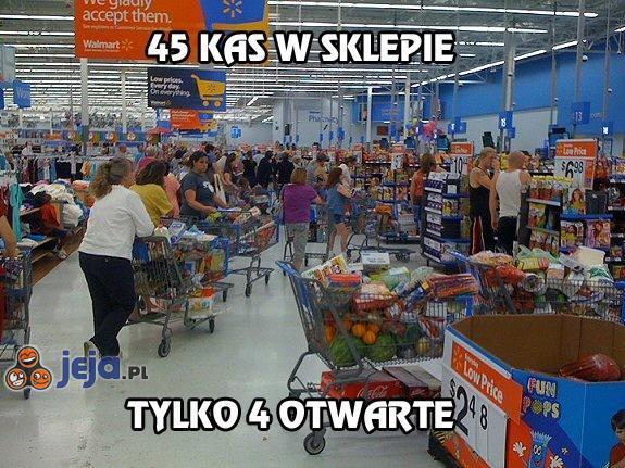 45 kas w sklepie