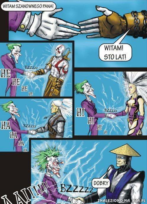 Joker i zabawa prądem