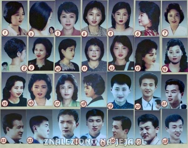 Lista 28 fryzur dozwolonych w Korei Północnej