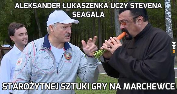 Aleksander Łukaszenka uczy Stevena Seagala