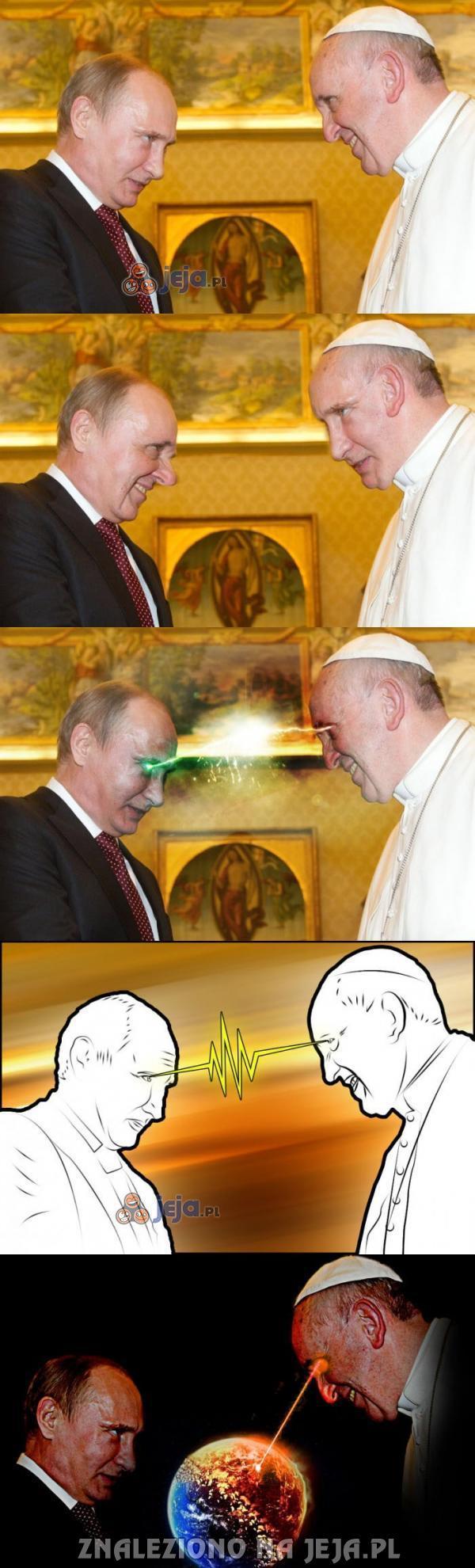 Putin vs. Papież - pojedynek tytanów