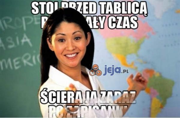 I jak tu pisać na lekcji?