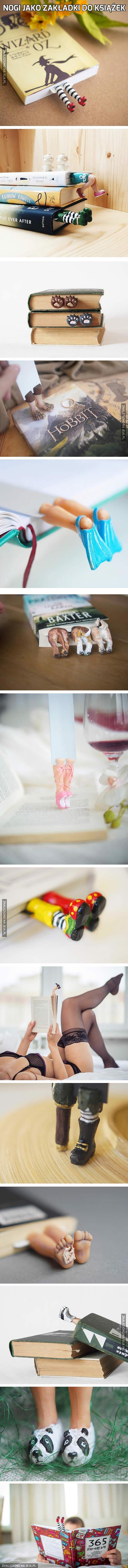 Nogi jako zakładki do książek