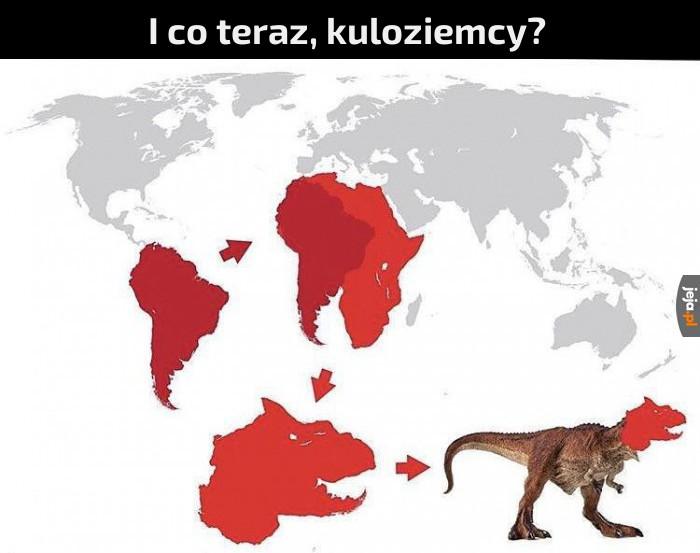 Ziemia ma kształt dinozaura