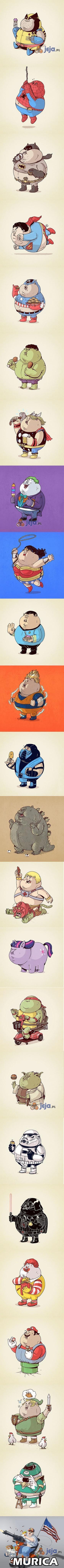 Gdyby znani bohaterowie mieli nadwagę