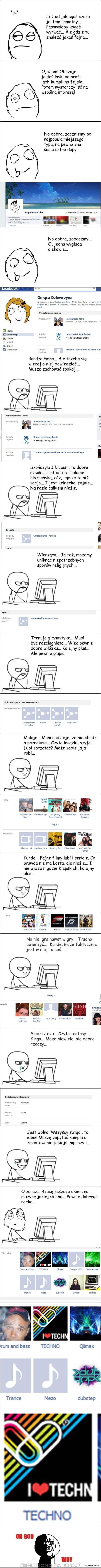 Szukanie dziewczyny na Facebooku