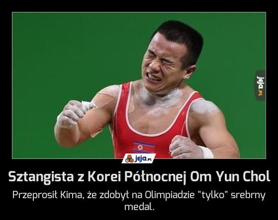 Sztangista z Korei Północnej Om Yun Chol