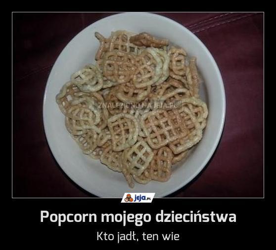 Popcorn mojego dzieciństwa