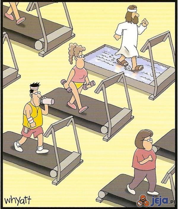 Jezus na fitnesie