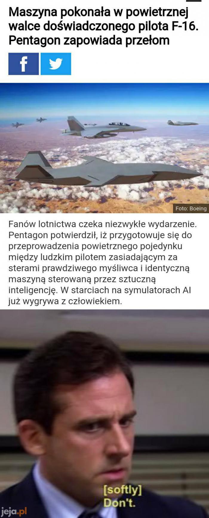Skynet też zaczynał od samolotów