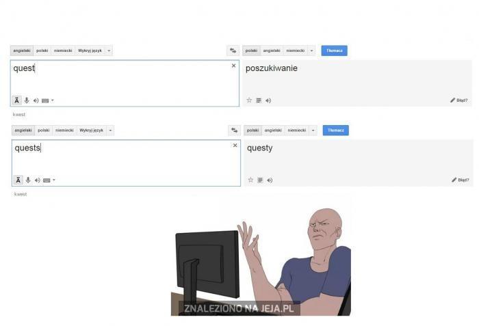 Google translate znowu zaatakowało