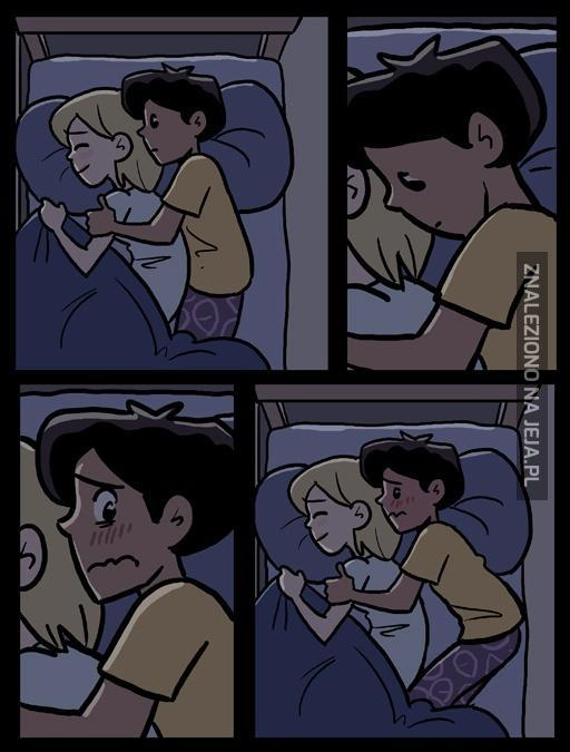Pierwsze nocowanie z dziewczyną