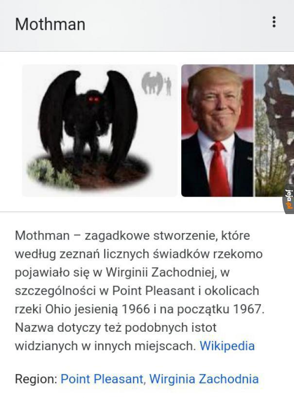 Ciekawe zdjęcie potwora