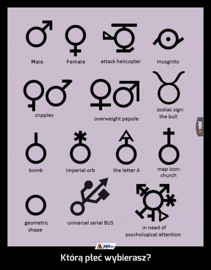 Którą płeć wybierasz?