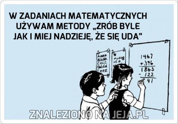 Najlepsza metoda w matematyce