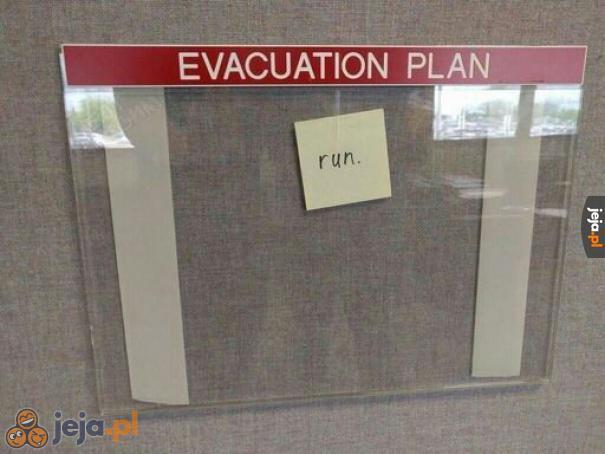 Szczegółowy plan ewakuacji