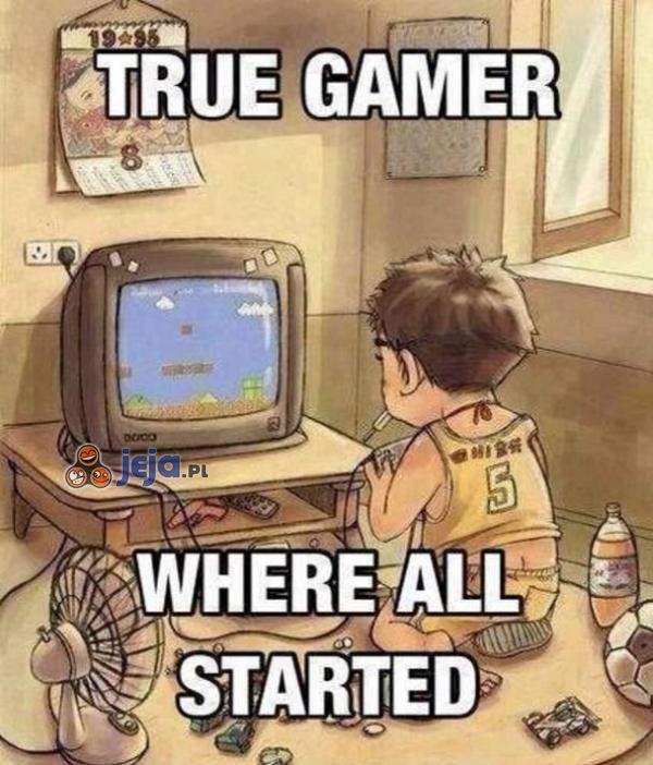 Gracz od najmłodszych lat