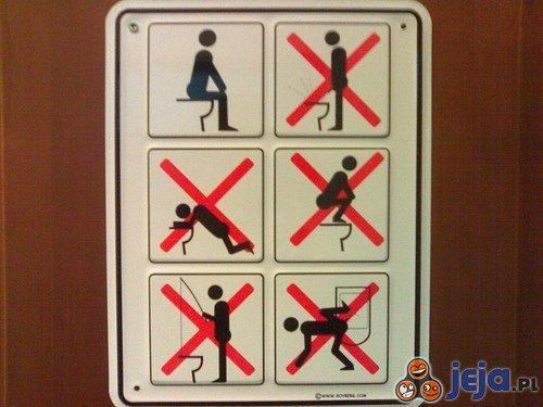 Zakazy w toalecie