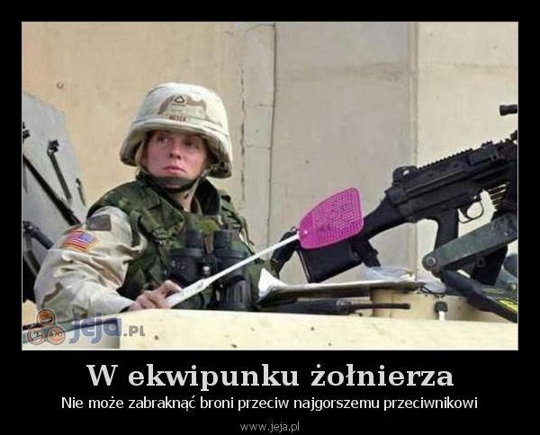 W ekwipunku żołnierza