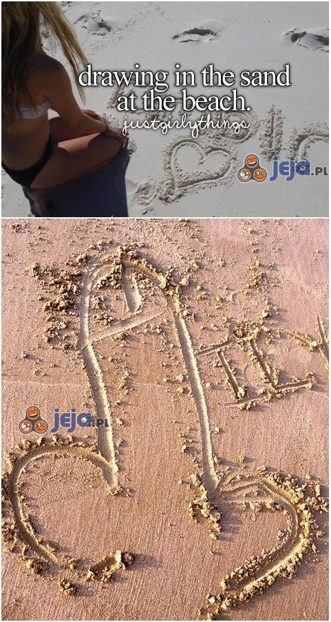 Rysowanie na piasku...