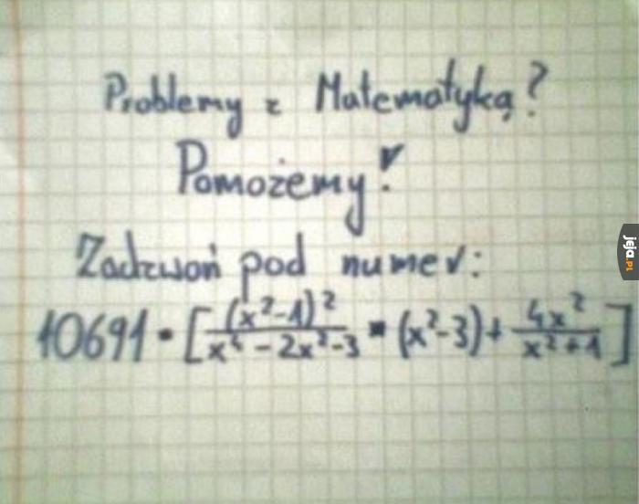 Sarkazm matematycy opanowali do perfekcji