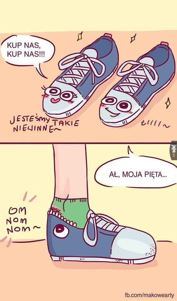 Nowe buty gryzą w pięty