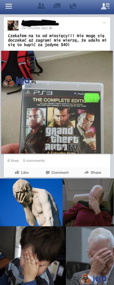 Szczęśliwy nabywca GTA...