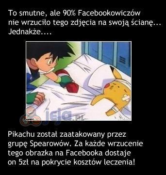Pikachu mocno chory!
