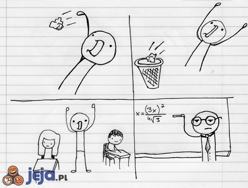 Nauczyciel nie podziela entuzjazmu