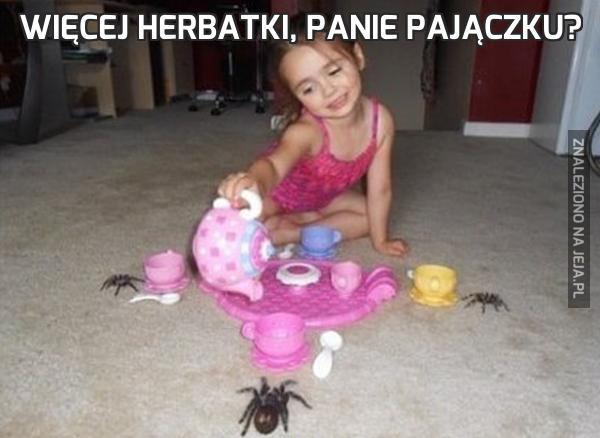 Więcej herbatki, panie pajączku?