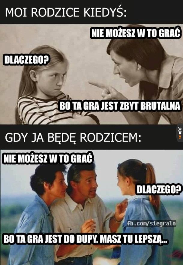 Stosunek rodziców do gier