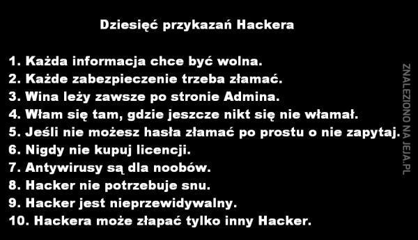 Dziesięć przykazań Hackera
