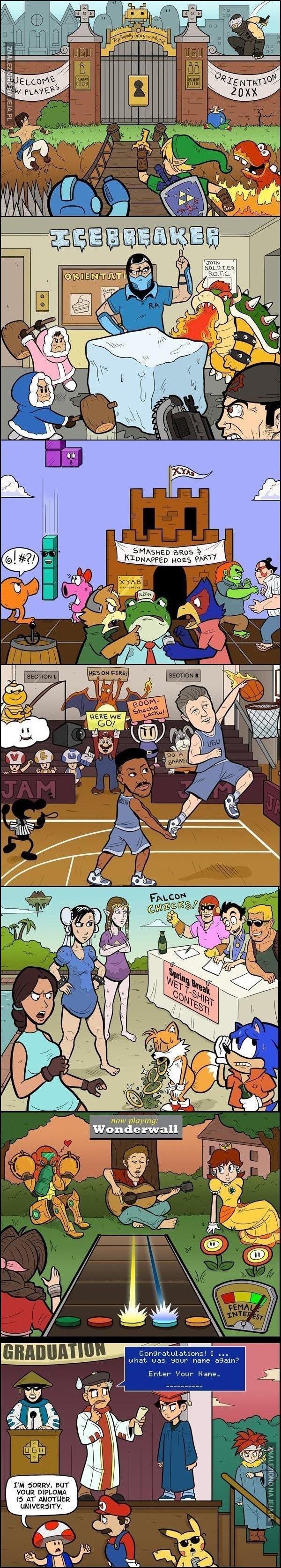 Gdyby bohaterowie gier zostali studentami
