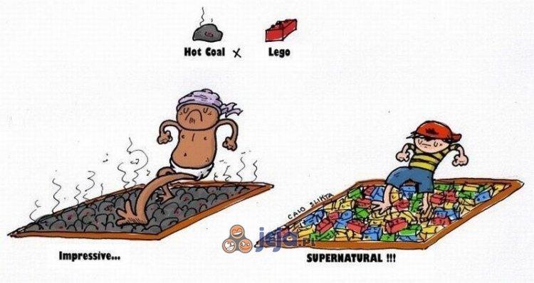 Rozgrzany węgiel vs Lego