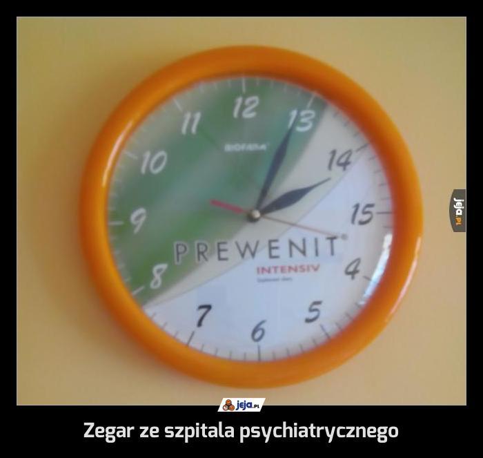 Zegar ze szpitala psychiatrycznego