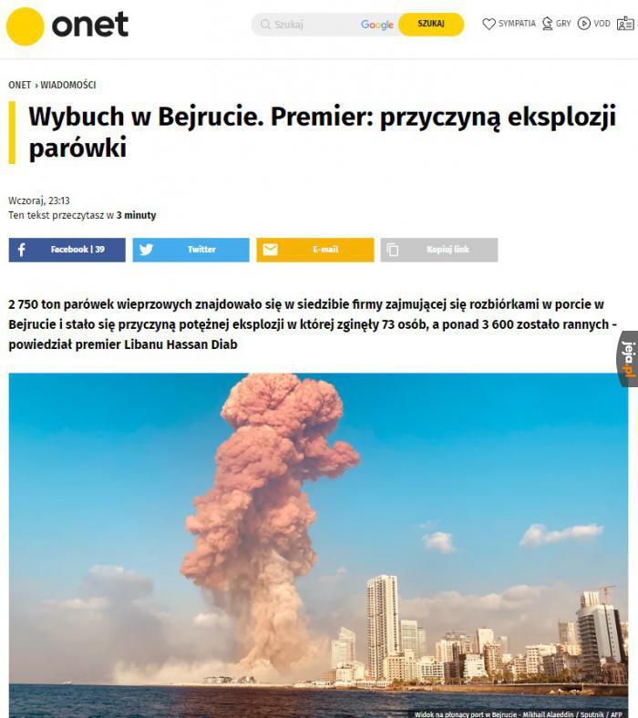 Do eksplozji doprowadzili rosyjscy włamywacze