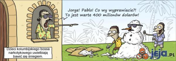 Zabawy dzieci kolumbijskiego bossa narkotykowego
