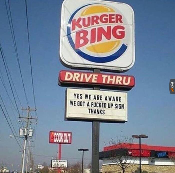 """Przeczytaliście to jako """"Burger King"""" za pierwszym razem?"""