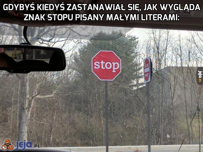 Niespotykany znak stop