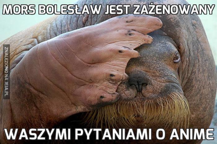 Mors Bolesław jest zażenowany