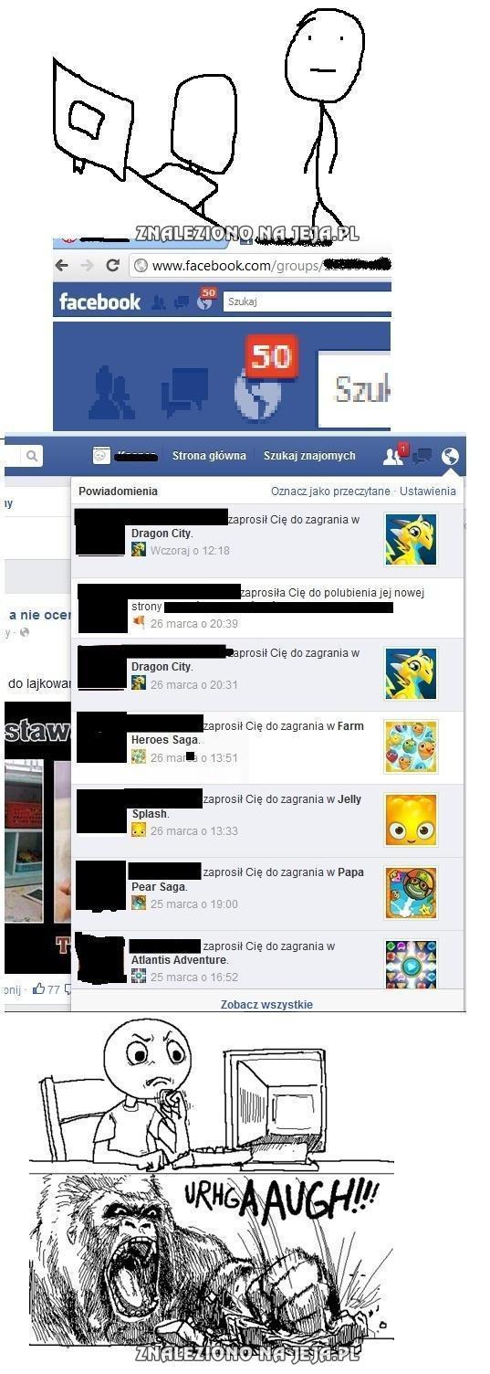 Moi znajomi na Facebooku...